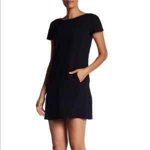 NWT Theory Short Sleeve Black Crepe Dress sz 4